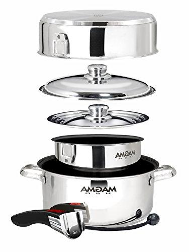 Magma A10-363-2-IND, Gourmet Nesting 7-Piece Induction Cookware with Ceramica