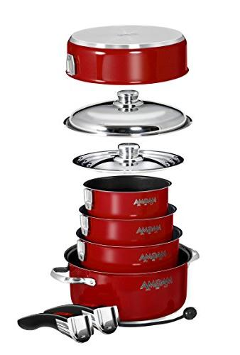 Magma Nesting Steel Induction Cookware Set with