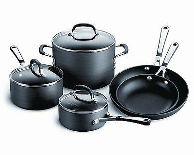 simply hard anodized nonstick 8 piece cookware