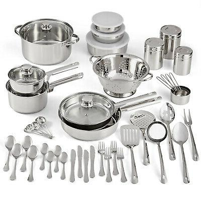 stainless steel cookware set kitchen tools pots