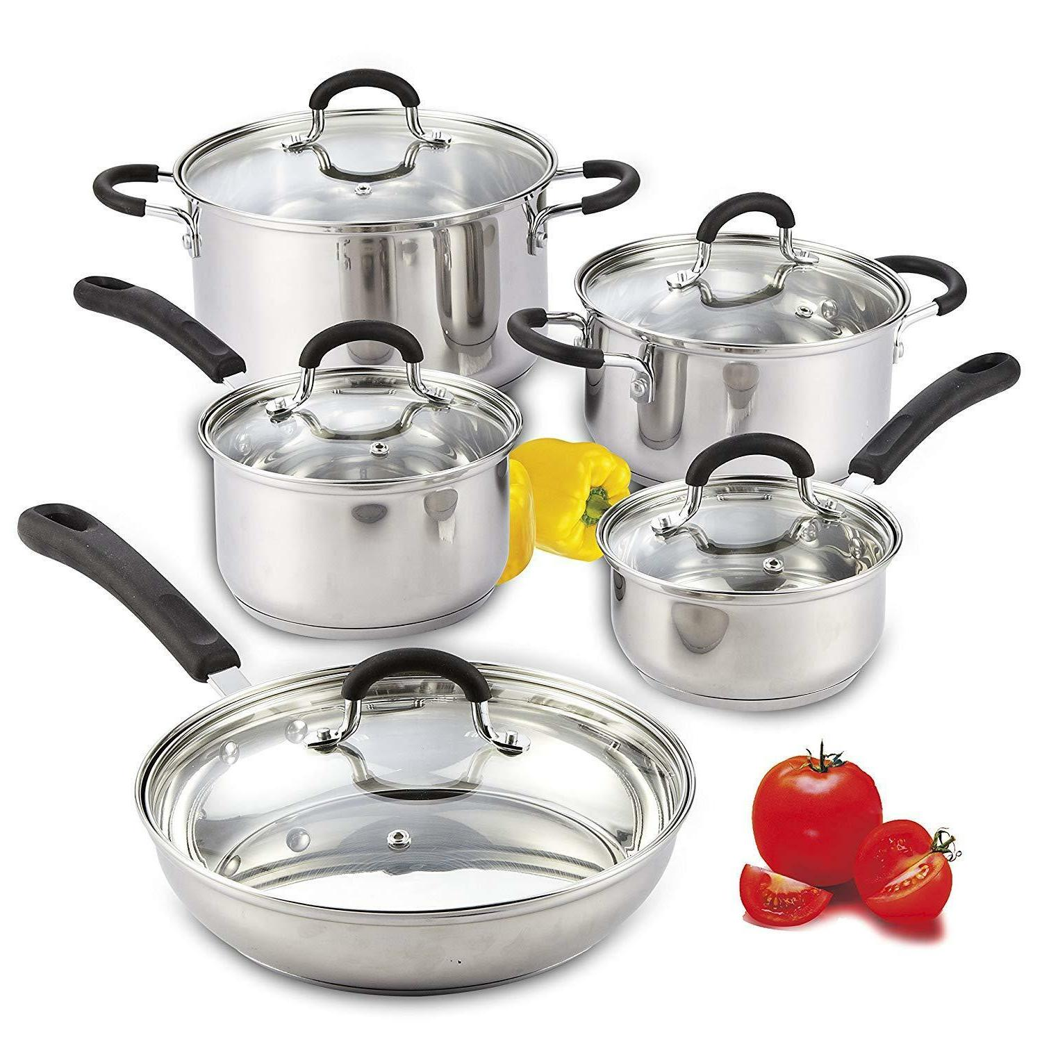 Stainless Induction Set And 10-Piece