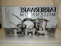 Farberware Millennium 10-Piece Stainless Steel Cookware Set