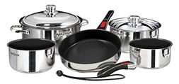 Magma Nesting 10-Piece Cookware - Stainless Steel Exterior &
