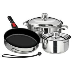 New Magma Nesting 7-Piece Induction Compatible Cookware - St