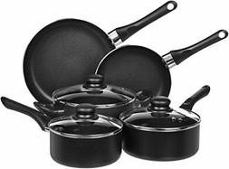 AmazonBasics 8-Piece Non-Stick Cookware Set