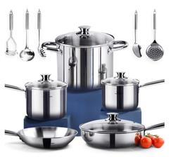 non toxic cookware set stainless steel healthy