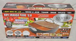"""Gotham Steel Nonstick 9.5"""" 4 Piece Deep Square Pan Set and R"""