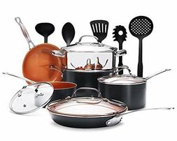 Gotham Steel 15-Piece Nonstick Copper Complete Cookware Set
