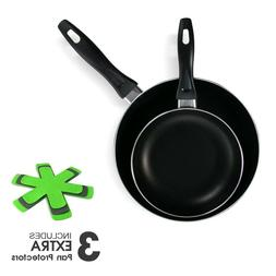 2PC Non Stick Fry Pan Set Frying Skillet Induction Cookware