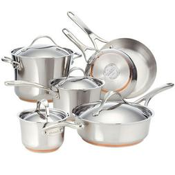nouvelle copper stainless steel 10 piece cookware