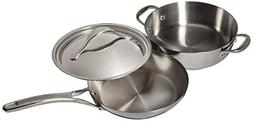 Anolon Nouvelle Copper 3 Piece Stainless Steel and Copper Co