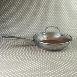 """Nuwave Perfect Green Cookware 9"""" Frying Pan with Lid Duralon"""
