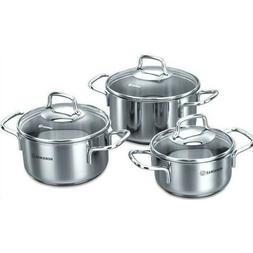 KORKMAZ Perla Stainless Steel Cookware Set,Cooking Pots with