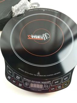 NuWave PIC Pro Highest Powered Induction Cooktop black 1800W