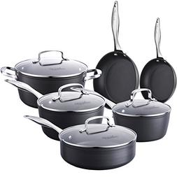 COOKSMARK Kingbox 10-Piece Hard-Anodized Aluminum Nonstick C