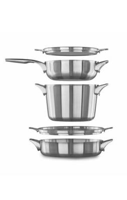 Calphalon Premier Space Saving Stainless Steel Supper Club S