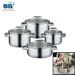 ELO Premium Stainless Steel Induction Cookware Pots Set w Gl