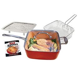 Red Copper 10-Inch Square Pan Set - 5 pc