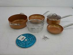 Copper Chef Cookware 9-Pc. Round Pan Set –Aluminum & Steel