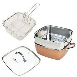 """Copper Chef XL 11"""" 4 Piece Set with 11"""" Extnder Ring"""