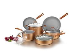 Cooksmark Signature 10-Piece Ceramic Nonstick Aluminum Cookw