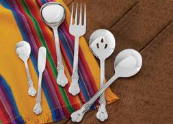 six piece stainless steel serving set