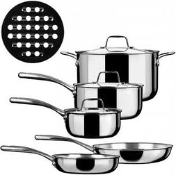 Duxtop SSC-9PC 9 Piece Whole-Clad Tri-Ply Induction Cookware