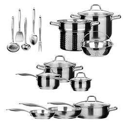 Duxtop SSIB Stainless Steel Induction Cookware Set, Impact-b