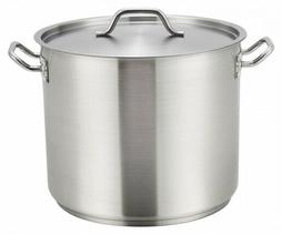 Winco SST-24 24 Qt. Premium Stainless Steel Induction-Ready