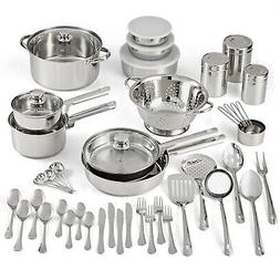 STAINLESS STEEL COOKWARE SET Kitchen Tools Pots Pans Bowls L