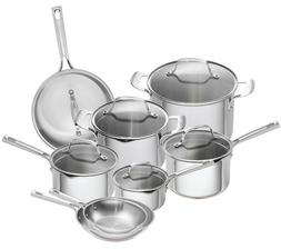 Emeril Lagasse 14 Piece Stainless Steel Cookware Set With Co