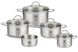 Stainless Steel Kitchen Induction Cookware Pots and Pans Set