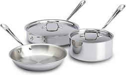 All-Clad Stainless Steel Tri-Ply 5 Piece Cookware Set