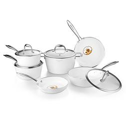 COOKSMARK Nonstick Cookware Set Diamond-Infused Induction&Di