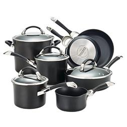 Circulon® Symmetry 11-pc. Black Cookware Set + FREE BONU
