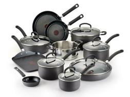 T-fal Hard Anodized Cookware Set, Nonstick Pots and Pans 17