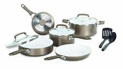 T-FAL/WEAREVER Pure Living Cookware Set, Ceramic Interior, 1