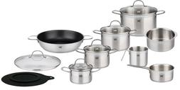 ELO 14 Piece Platin Stainless Steel Kitchen Induction Cookwa