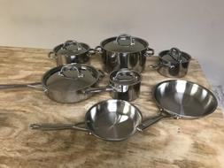 Anolon Tri-Ply Clad Stainless Steel 12-Piece Cookware Set 30
