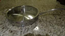 Calphalon Tri-Ply Stainless Steel 5 qt. Saute Pan with cover