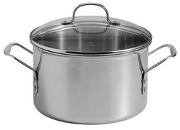 Calphalon Tri-Ply Stainless-Steel 8-Quart Stockpot with Glas