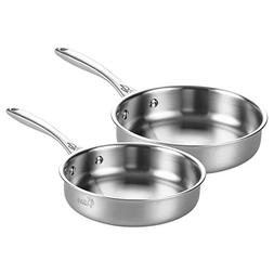 Tri-Ply Stainless Steel Frying Pan Cookware Set Physical Non