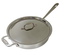 All-Clad Tri-Ply 3 Qt. Stainless Steel Saute Pan With Lid
