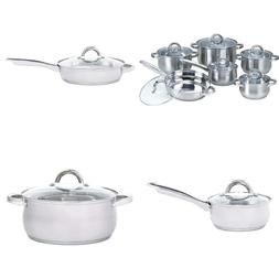 Heim Concept W-001 12-Piece Induction Ready Stainless Steel