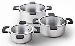 Ozeri ZP16-3P Multi-Size 6-Piece Inductive Pot Set Stainless